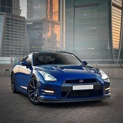 Blue Coupe Sports Car