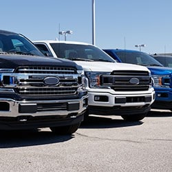 Lineup Of Trucks