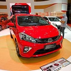 Red Sedan Hatchback