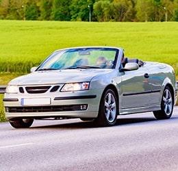 Silver Convertible Coupe