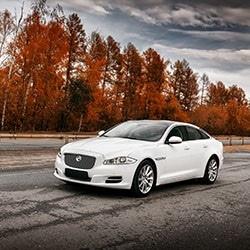 White Luxury Sedan