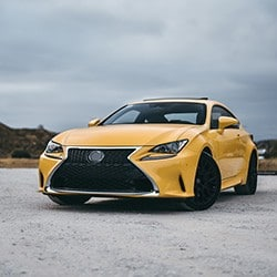 Yellow Coupe Sports Car