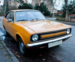 Yellow Hatchback Coupe